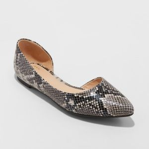 A New Day: Snake Print Flats